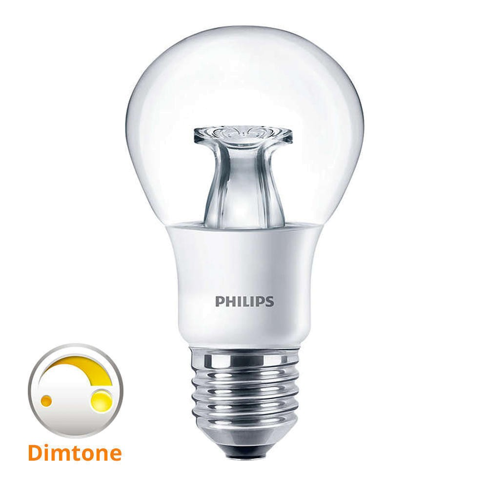 Leuchtmittel E27 - LED bulb Master DiamondSpark Philips - klar - warm white - DimTone