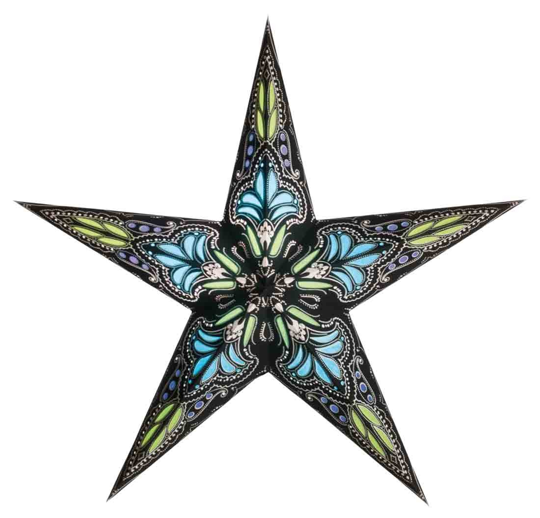 starlightz jaipur black/türkis - size M