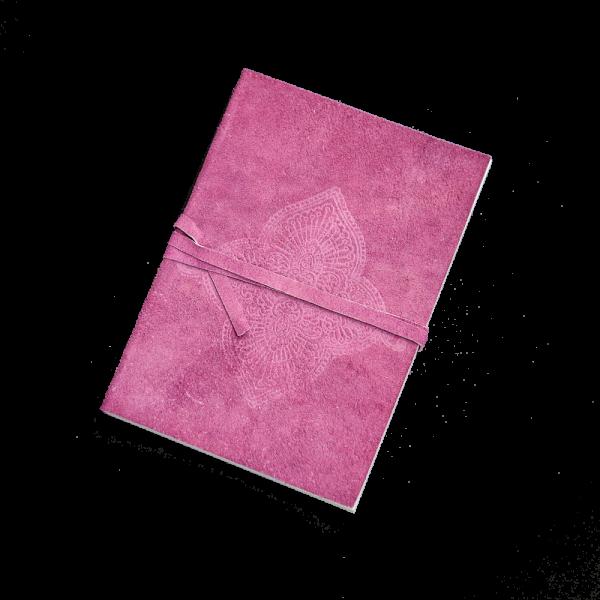 Notizbuch, Small Orchid, Einband Leder