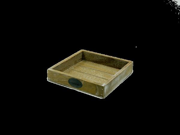 Riverdale Tablett - Holz natur 20x20cm