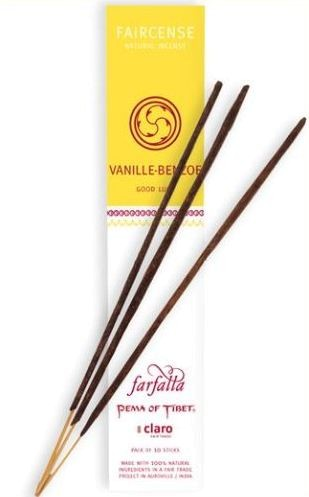 Faircense Räucherstäbchen Vanille/Benzoe / Good Luck
