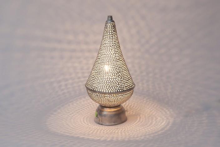 Tischlampe / Bodenlampe - Filisky Mini - versilbert - Zenza