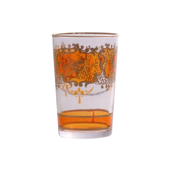 "Marokkanisches Teeglas ""Challa"" orange"