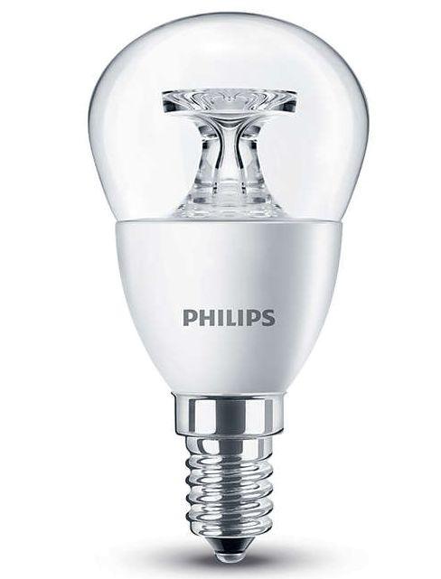 Leuchtmittel E14 - Philips LED CoreProLuster klar - 5,5W wie 40W - Warm White