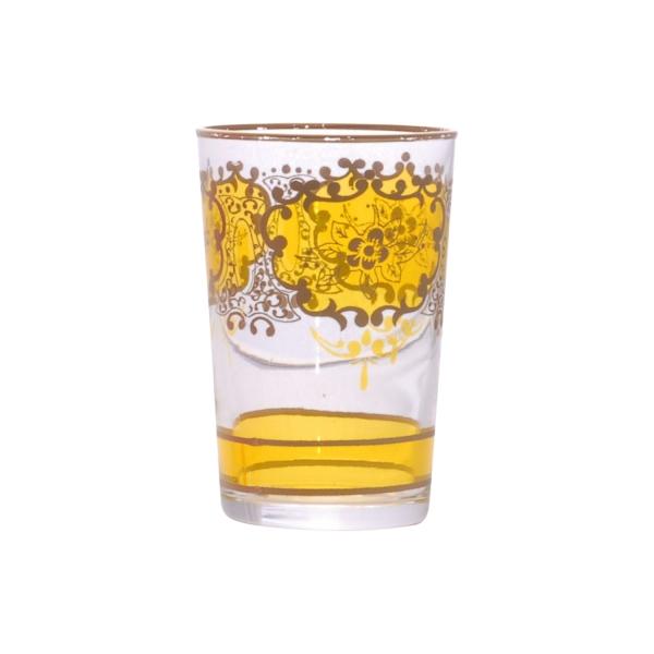 "Marokkanisches Teeglas ""Challa"" gelb"
