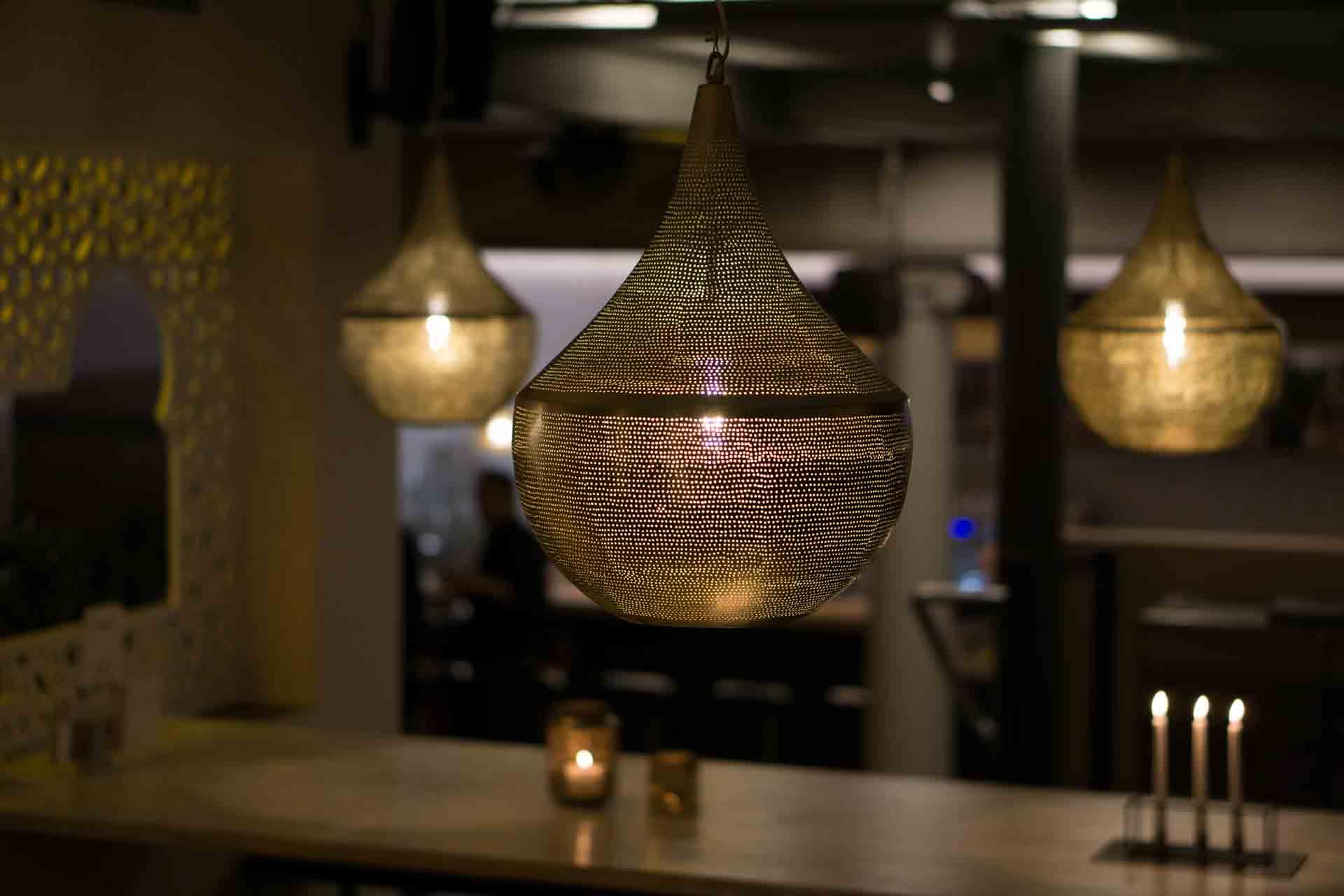 Gastronomieobjekt orientalische Leuchten