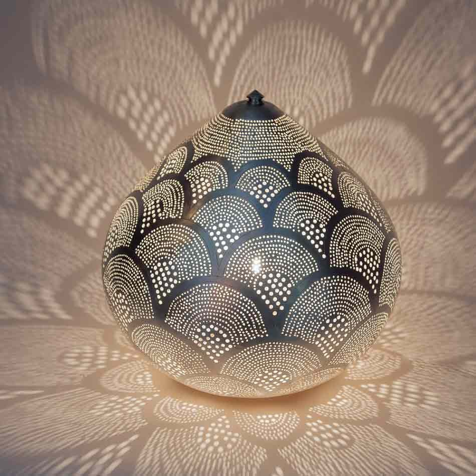 Tischlampe - Princess Fan Large - versilbert - Zenza