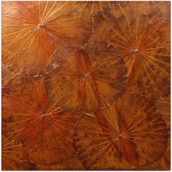 Lotusart aus Lotosblättern - 60 x 60 - Farbe Orange - SHERMANS®