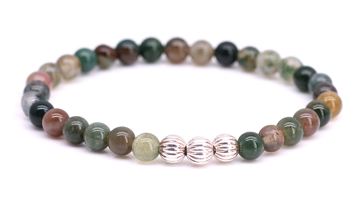Armband Minimal Green Indian Agate