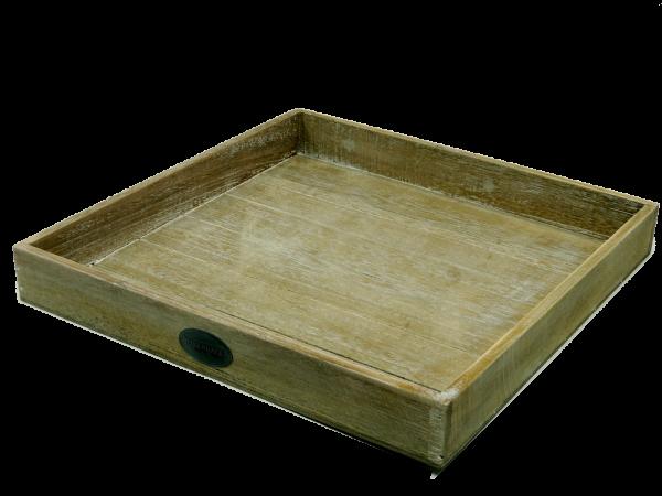 Riverdale Tablett - Holz natur 40x40cm