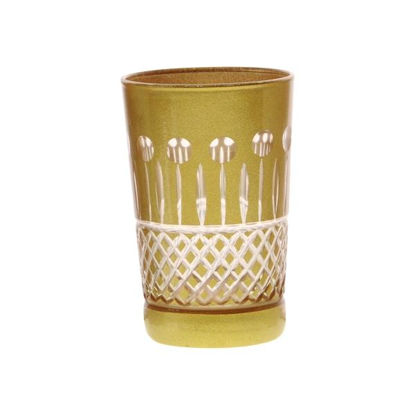 Teeglas Luxe, goldfarben, handgeschliffen, spülmaschinenfest