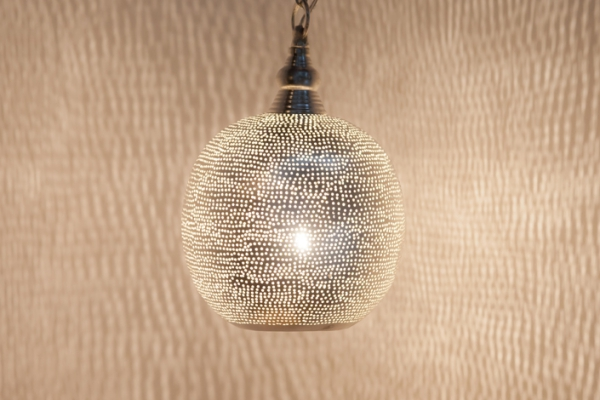 Hängelampe - Ball Filisky Small - versilbert - Zenza
