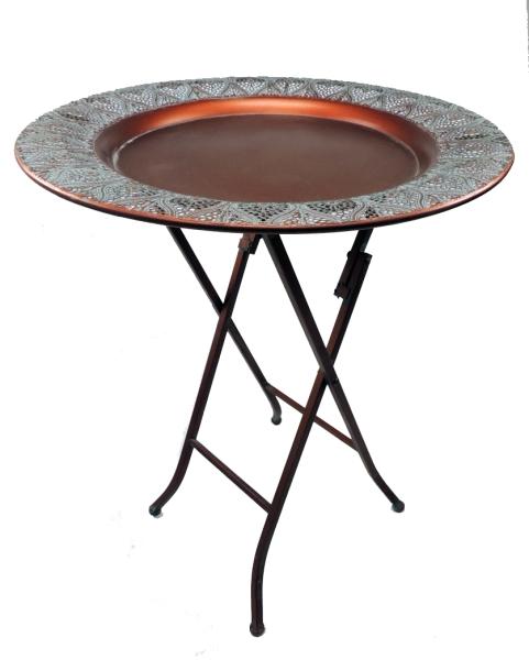 Klapptisch aus Metall - kupferfarben - ø 53cm