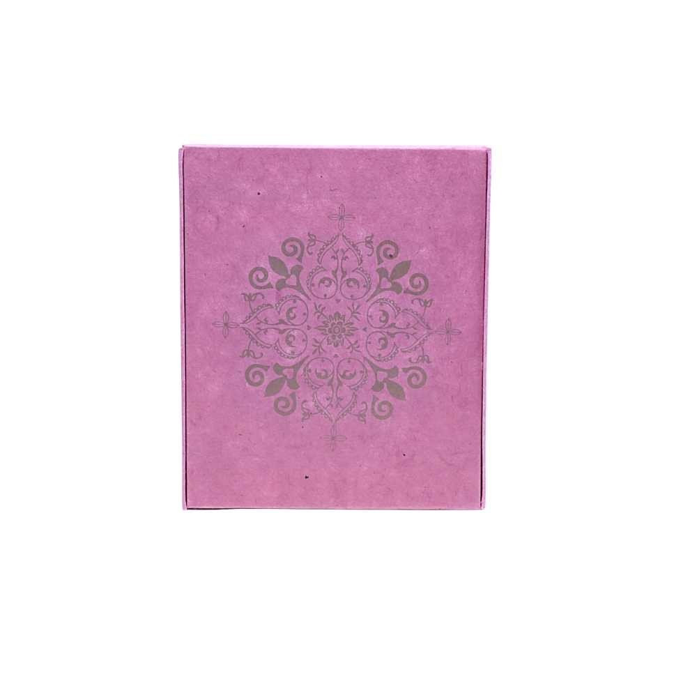 Schrein Altar Bilderrahmen pink-gold Papier