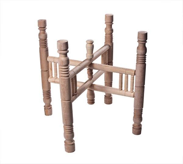Holzuntergestell für Teetablett D75 cm - Handwerk - Zenza