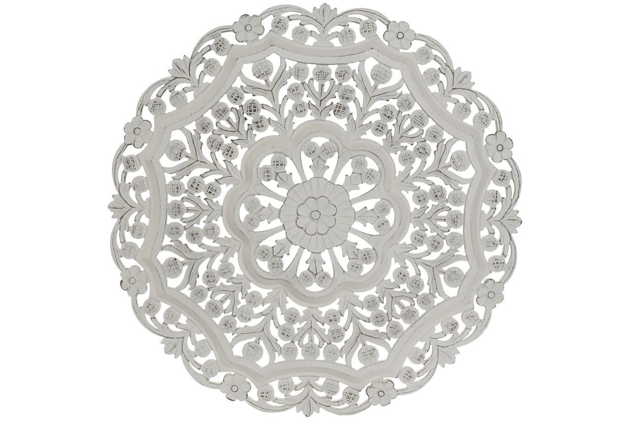 3D Holz Wandbild Ornament rund