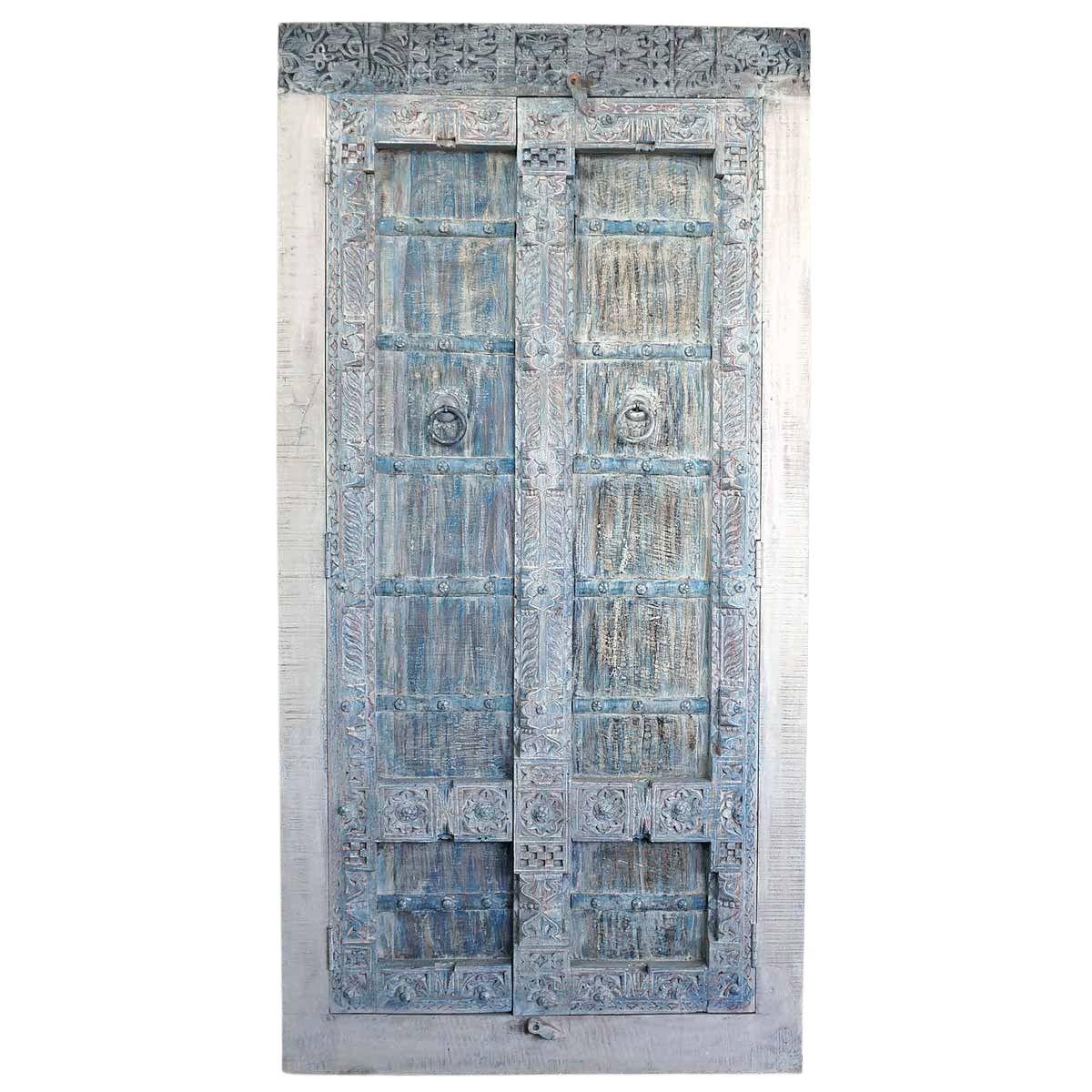 Indischer Schrank Unikat B mit alter Original Türe eines Havelis