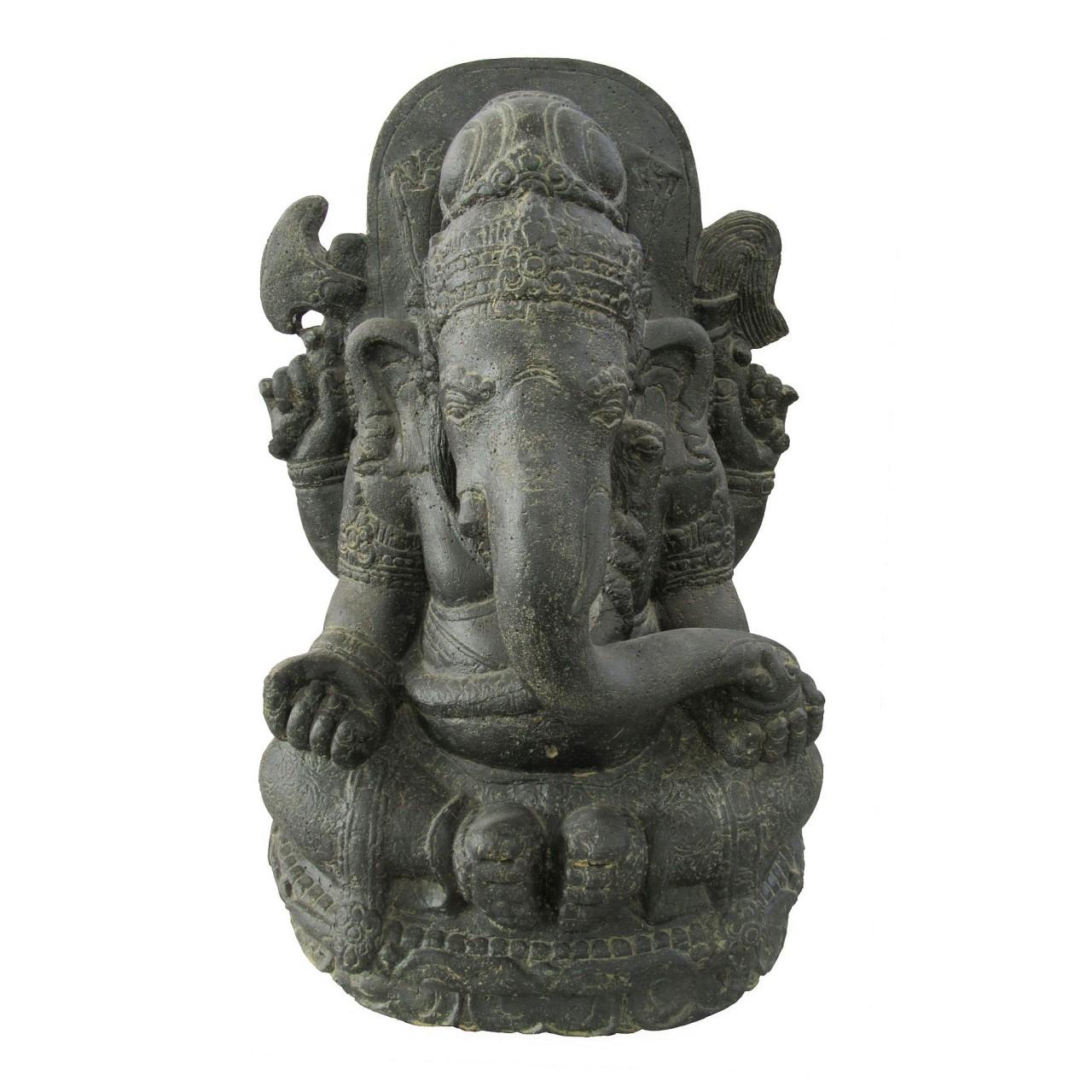 Auf Anfrage - Ganesha - Stein / Guss - 70 cm Höhe - Indonesien