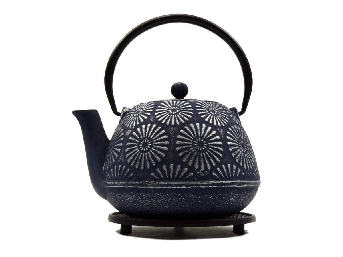 Teekanne Hani, 1.0 Liter, Blau-Silber, inkl. Untersetzer und Teesieb