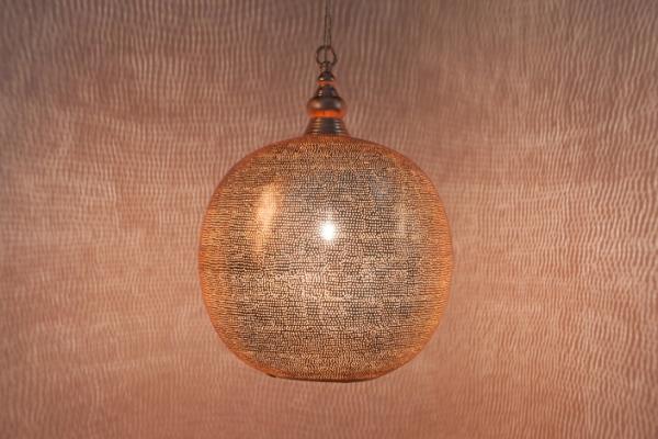 Hängelampe - Ball Filisky XL - verkupfert - Zenza