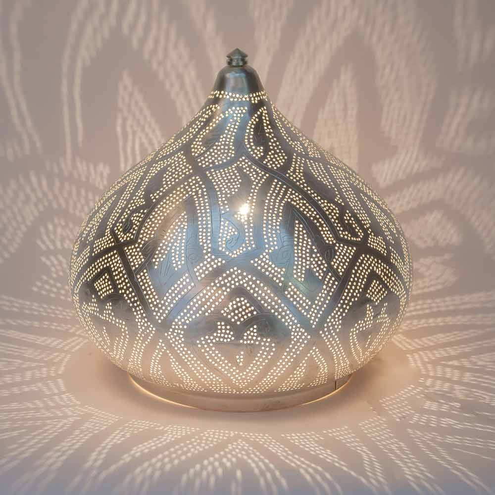 Tischlampe / Bodenlampe - Filigrain Large - versilbert - Zenza