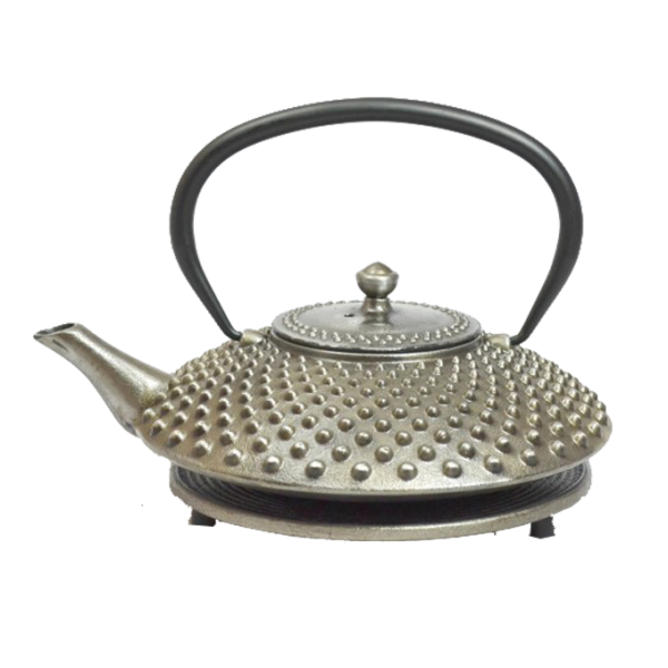 Teekanne Kambin, 1.0 LIter, Silber, inkl. Untersetzer und Teesieb