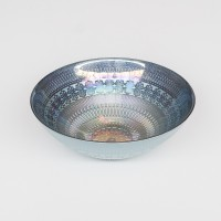 Schale Glas - Rainbow Blue - M - 22 cm - Zenza