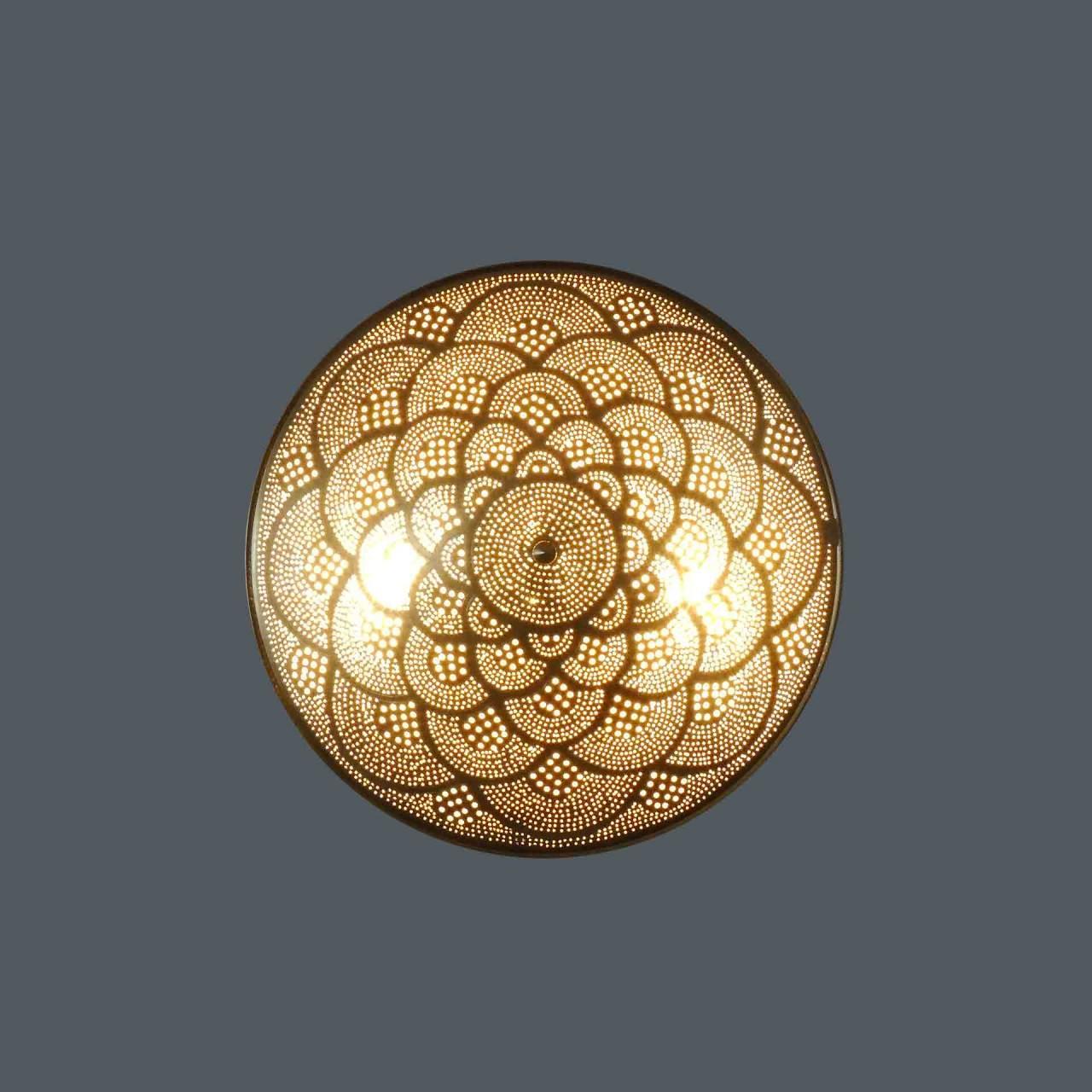 Zenza Deckenlampe 50cm Fan gold