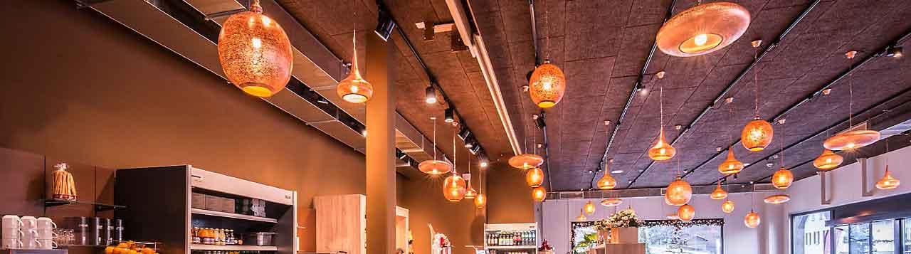 moderne orientalische lampen gastronomie