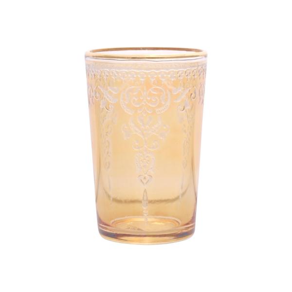 """Marokkanisches Teeglas """"Morjana Relief"""" gold"""