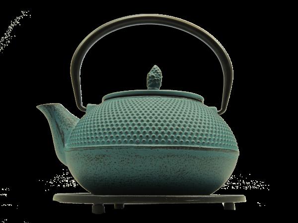 Teekanne Arare, 1.2 Liter, Petrol, inkl. Untersetzer und Teesieb