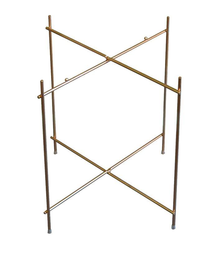 Untergestell goldfarben - klappbar - Metall lackiert - D52 cm / H48cm