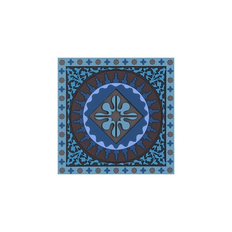 Untersetzer Silikon - Coaster Moasic Blue - 9x9cm