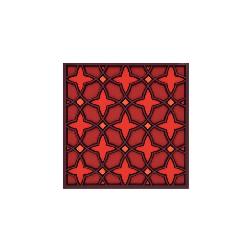 Untersetzer Silikon - Coaster Najma Red - 9x9cm