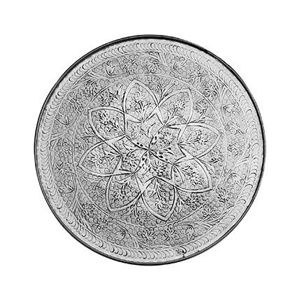 Tablett - Alu - Ø58cm - Kashmir Style - Handwerk Indien - Van Verre