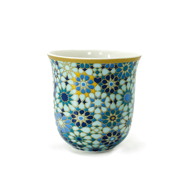Coffee Cup - Moucharabieh Blue - Porzellan - 90ml