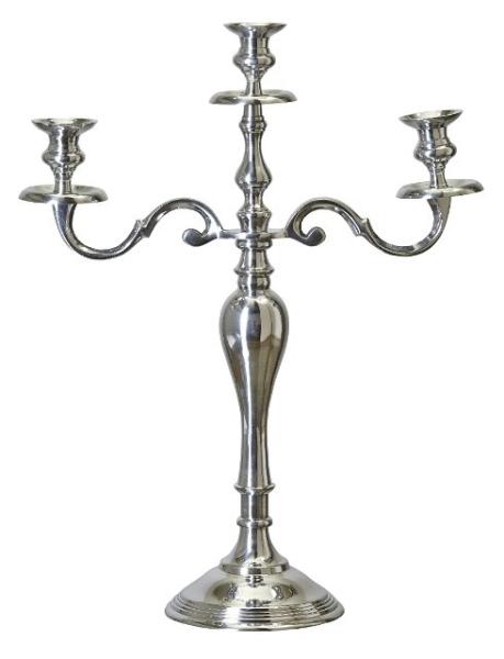 AFFARI - Kerzenständer Stella silber - 3-armig - Höhe ca. 52cm