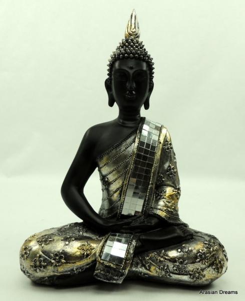 Buddha Silver Star, 40 cm Höhe