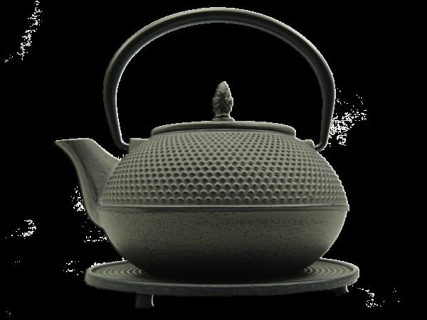 Teekanne Arare, 1.2 Liter, Grau, inkl. Untersetzer und Teesieb