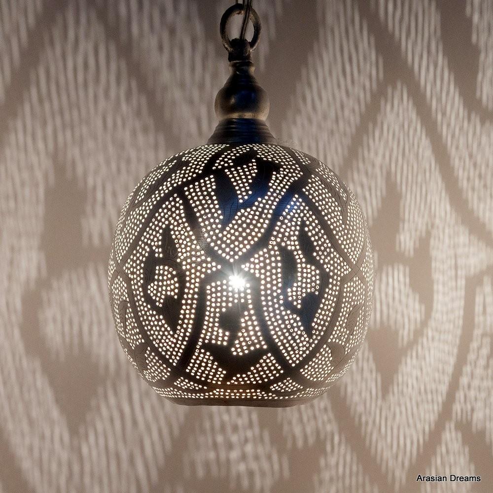 Hängelampe - Ball Filigrain Small - versilbert - Zenza