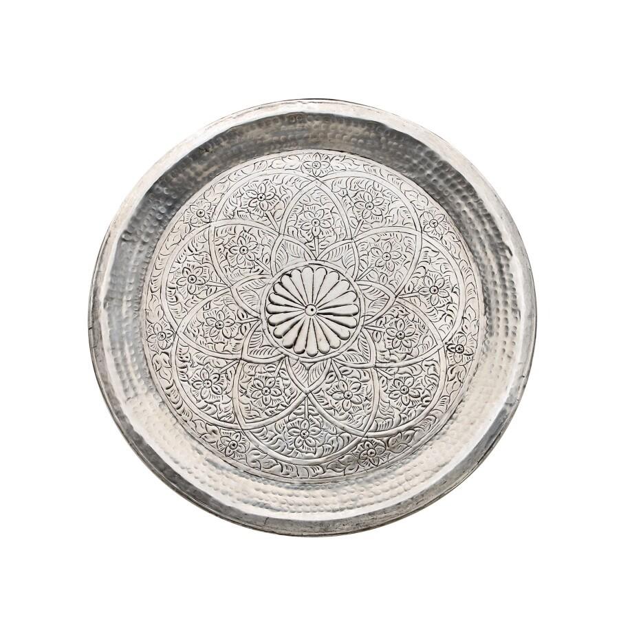 Tablett Alu D58cm Indian Style van verre