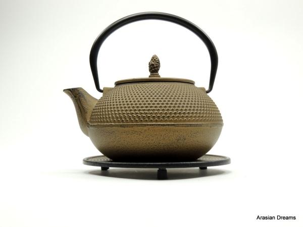 Teekanne Arare, goldfarben, 1.2 Liter