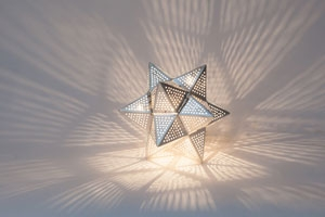 Tischlampe / Bodenlampe - Star Mini - versilbert - Zenza