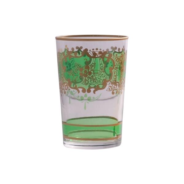 "Marokkanisches Teeglas ""Challa"" grasgrün"