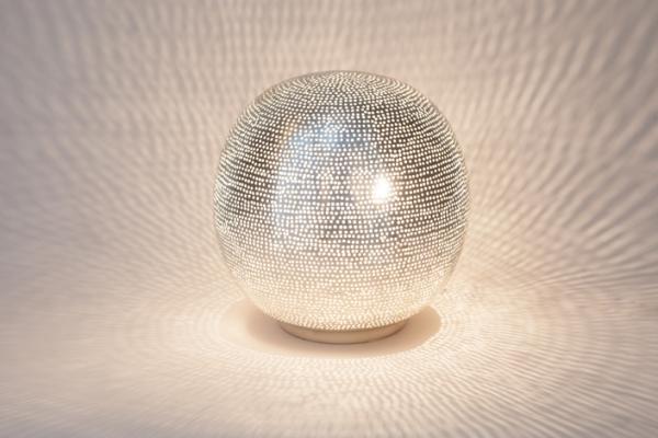 Tischlampe / Bodenlampe - Ball Filisky Small - versilbert - Zenza
