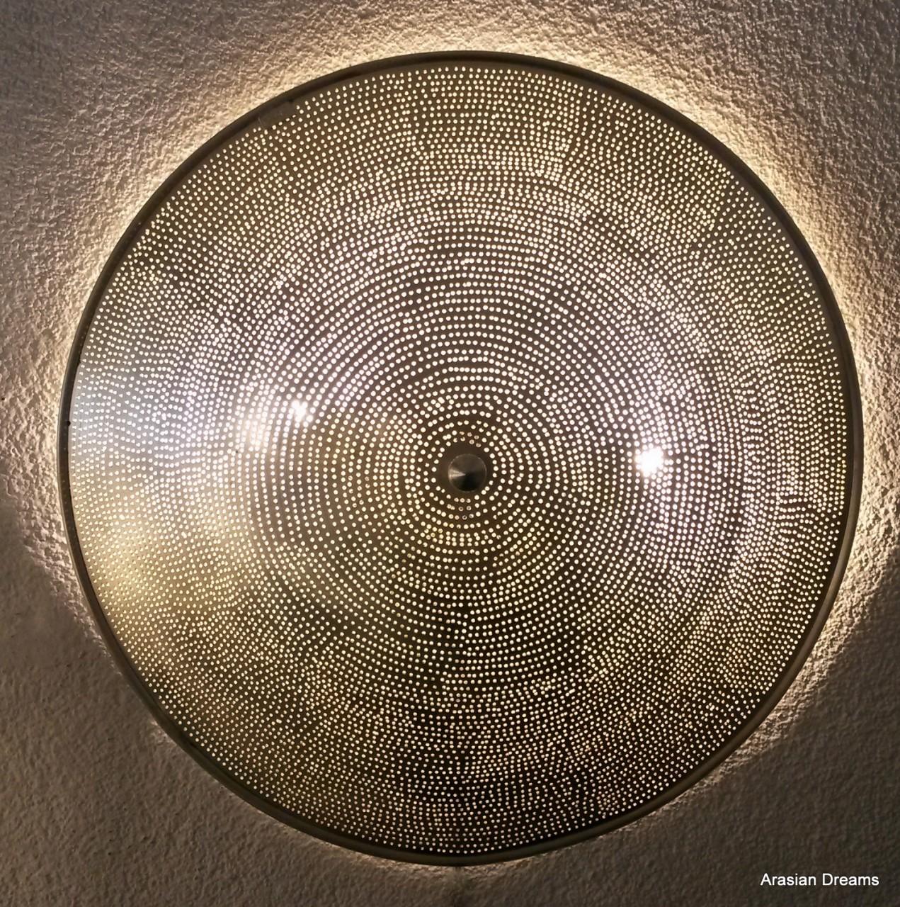 Wandlampe / Deckenlampe - 50 cm - FILISKY XLs - versilbert - Zenza