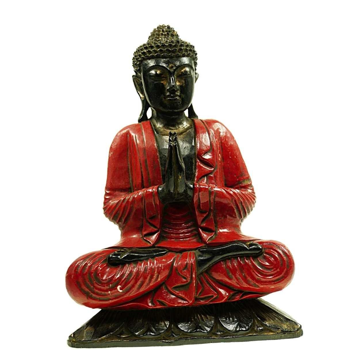 Buddha Lamruam Rot 50 cm Suarholz Unikat