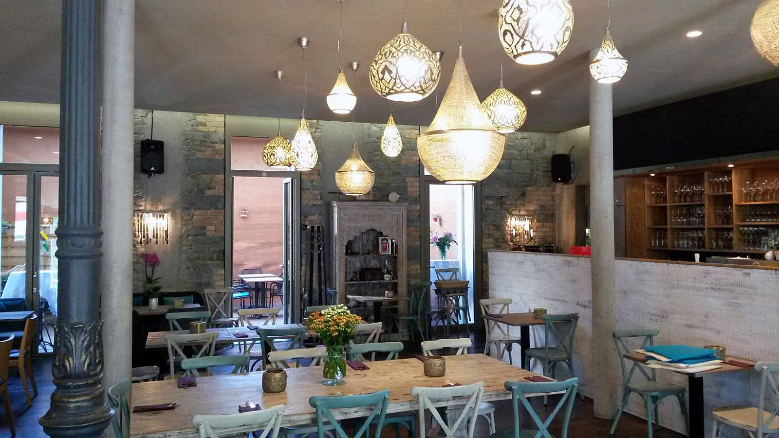 Orientalische Beleuchtung ikrams Restaurant