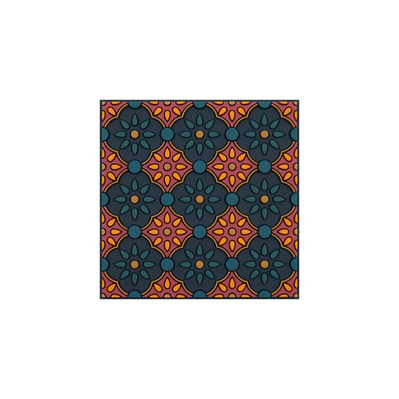 Untersetzer Silikon - Coaster Zahra Orange - 9x9cm