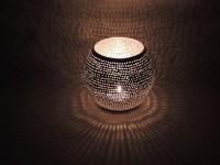 Windlicht Shibam klein - versilbert - Handwerk - Zenza